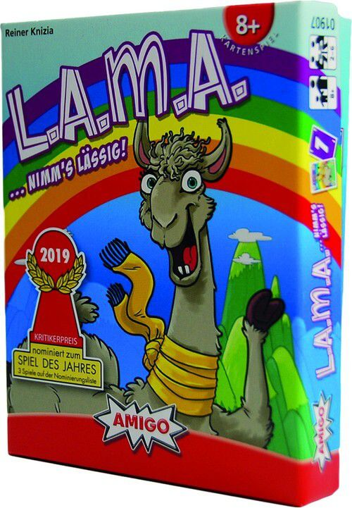 LAMA: AMIGO Kartenspiel // ...NIMM`S L/ÄSSIG // 56 Karten 1 Spielanleitung 70 Chips