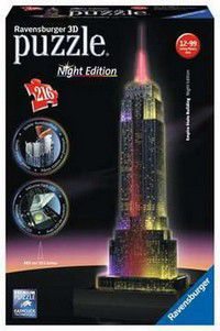 Empire State Building bei Nacht - Night Edition -  Ravensburger 3D Puzzle 216 Teile